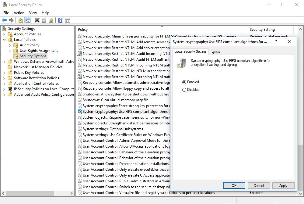 Schannel - The internal error state is 10013 (Solved) - port135 com
