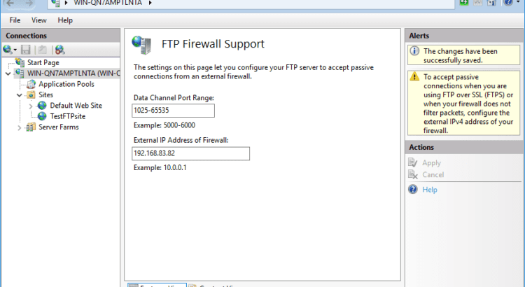 How to set up IIS FTP for both internal and external users