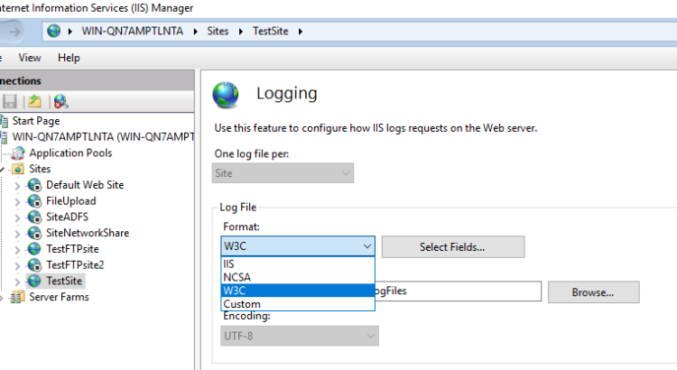 Which time zone IIS logs are recorded in? - port135 com