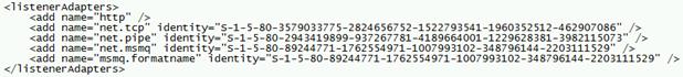 Missing bindings in applicationHost.config