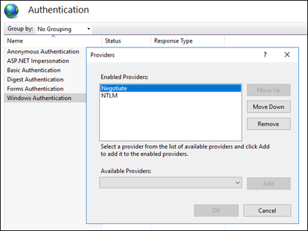 Enable Kerberos authentication to fix KB4487026 issue