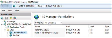 IIS manager permissions for non-admin accounts