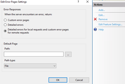 IIS setting for detailed error pages