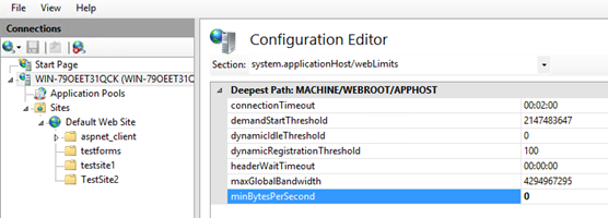 minBytesPerSecond and Timer_MinBytesPerSecond