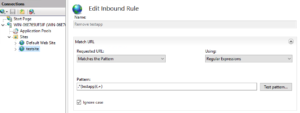 URL Rewrite Inbound rule to strip out folder from path