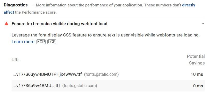 Ensure text remains visible during webfont load error